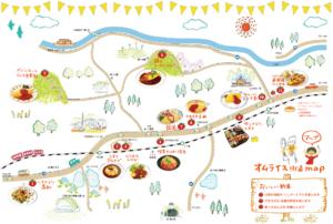 オムライス街道map