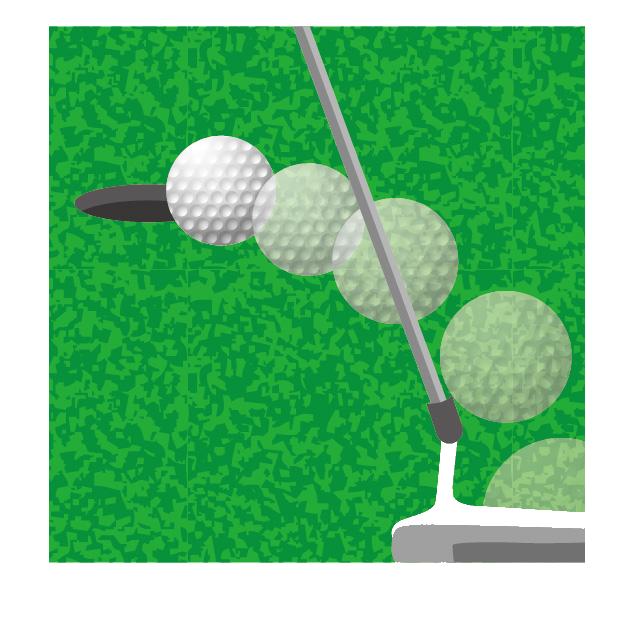 イラスト、ゴルフ