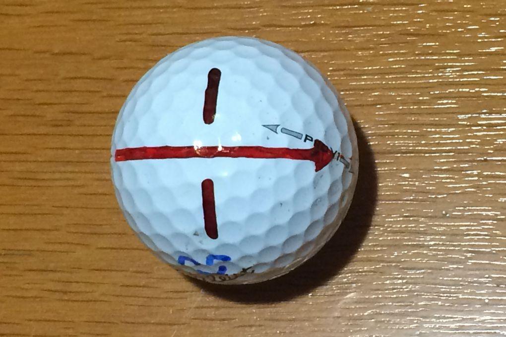 ゴルフボール、マーク