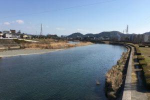 20160125鏡川下流方向