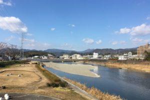 20160125鏡川上流方向