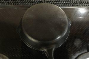 スキレット焼き芋、蓋