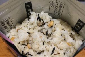 非常食、大豆ひじき飯