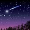 イラスト、夜空