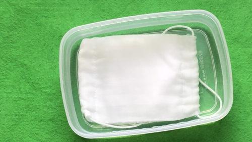 マスクのタッパー洗浄|水洗い