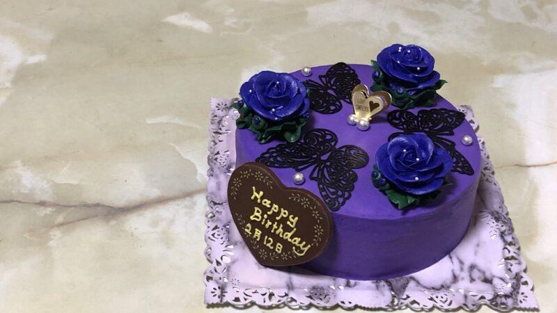 娘誕生日、誕生日ケーキ